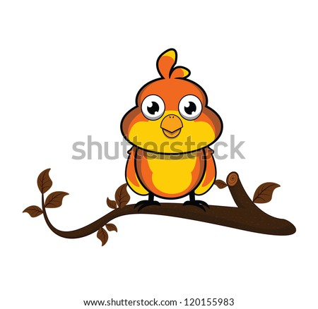 sparrow tree - stock vector