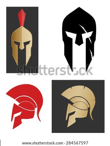 Spartan helmet - stock vector