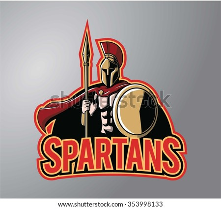 Spartans symbol illustration design - stock vector