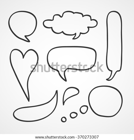 Speak Bubble Set Vector EPS10, Great for any use. - stock vector