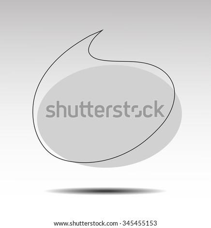 Speak bubbles - stock vector