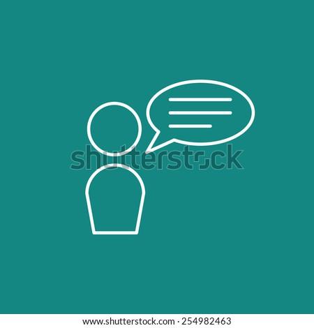 speak icon  - stock vector