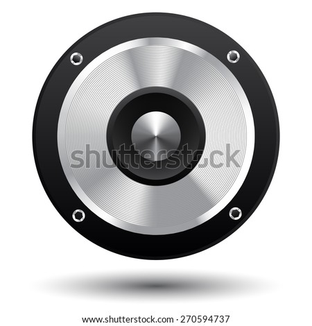 speaker cone  isolated on white background - stock vector