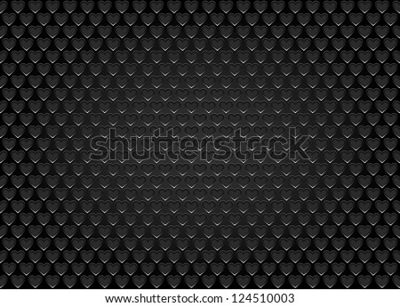 Speaker grill texture in the form of heart.vector - stock vector