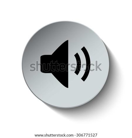 Speaker icon. Sound icon. Button. EPS10. Illustration - stock vector