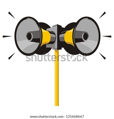 Speakers announced - stock vector