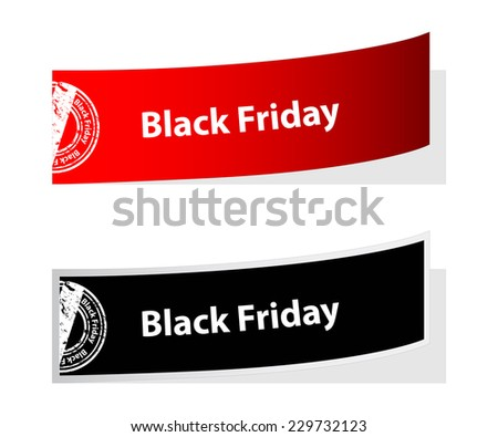 special black friday labels with stamp - stock vector