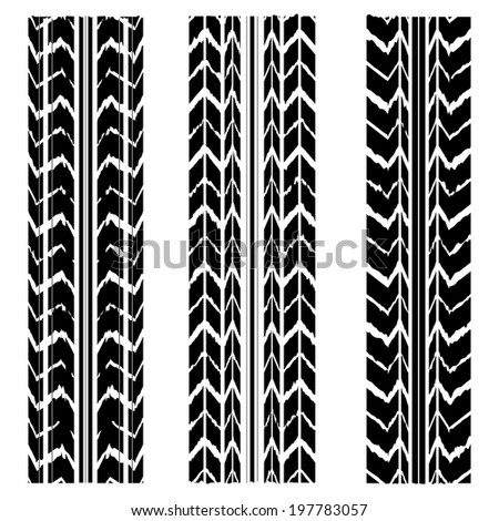 special black tire track design - stock vector