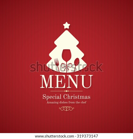 Special Christmas festive menu design - stock vector