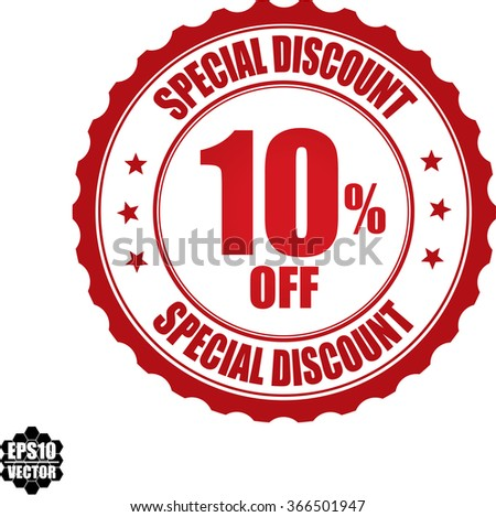 Special discount 10% off stamp.Vector. - stock vector