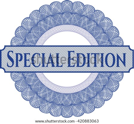 Special Edition inside money style emblem or rosette - stock vector