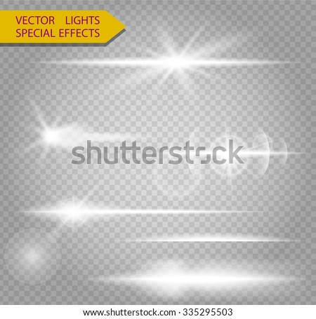 Special line flare light effects for design and decor - stock vector