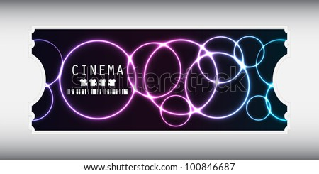 special movie ticket with plasma design - stock vector