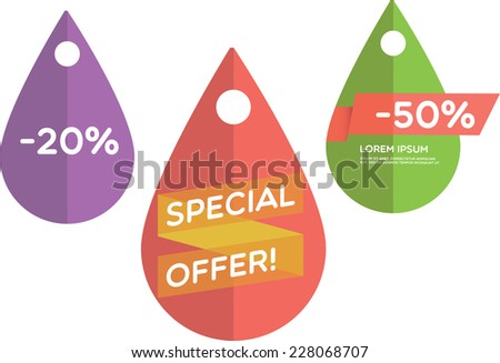 Special offer - stock vector