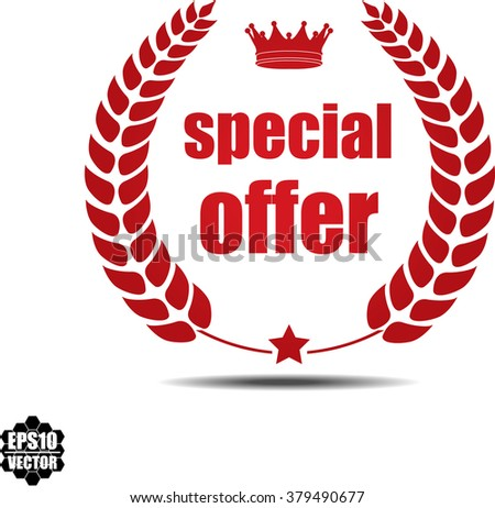 Special offer, Label, Sticker or Icon Isolated on White Background.Vector - stock vector