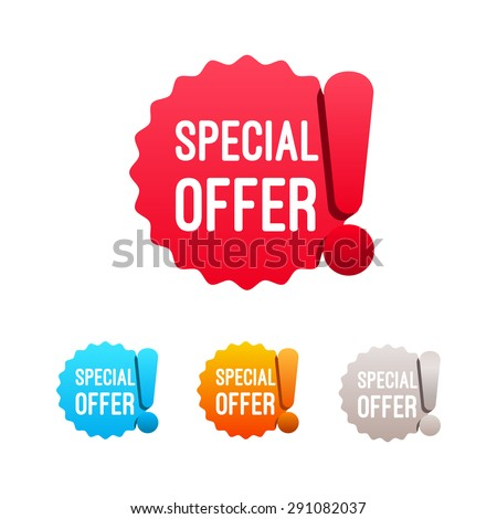 Special Offer Labels - stock vector