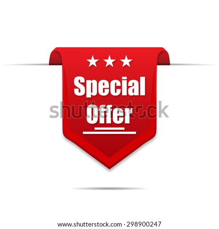 Special offer on a ray background new product - stock vector