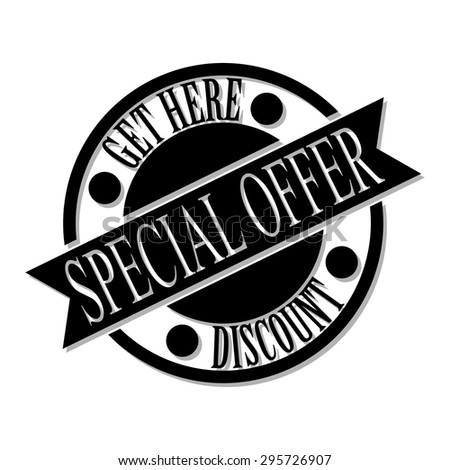 Special offer stamp. Special offer badge. Discount. Vector - stock vector