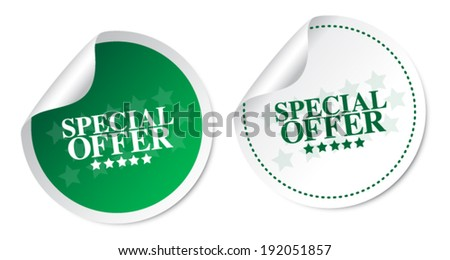 Special offer stickers - stock vector