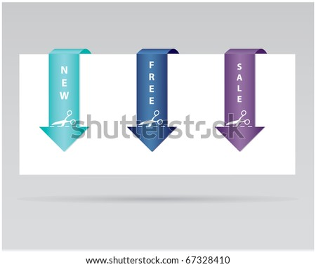 special paper tag - stock vector