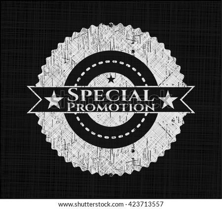 Special Promotion chalkboard emblem written on a blackboard - stock vector