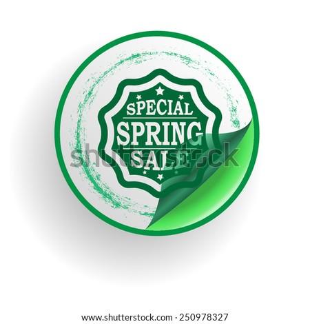 Special Spring Sale Sticker . Vector Illustration . - stock vector