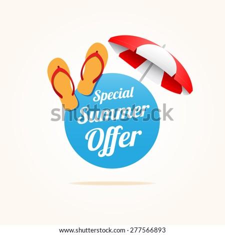 Special Summer Offer - stock vector