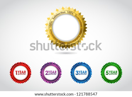 special vector guarantee sign, warranty label - stock vector