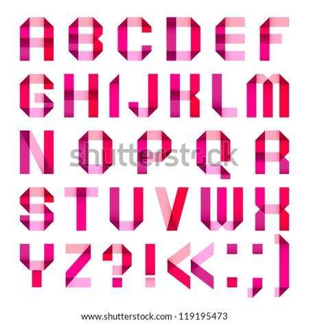 O Alphabet Logo ... letters-folded-of-paper-roman-alphabet-a-b-c-d-e-f-g-h-i-j-k-l-m-n-o-p