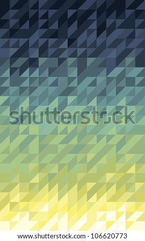 Spectral triangle pattern - stock vector