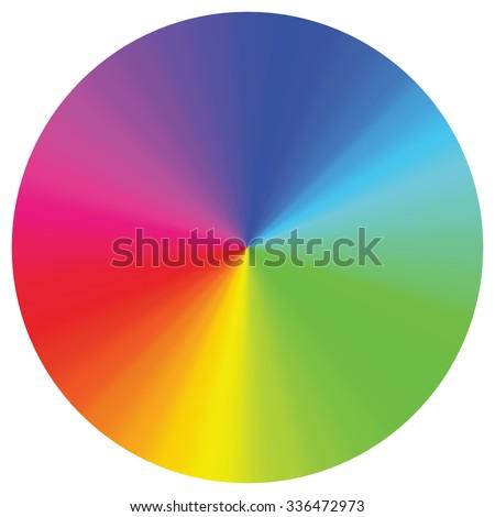 Spectrum color wheel on white background. - stock vector