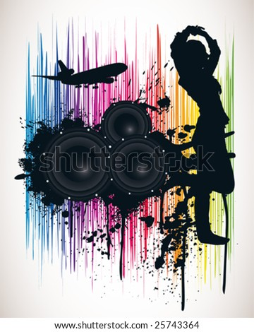 Spectrum Music Poster - stock vector