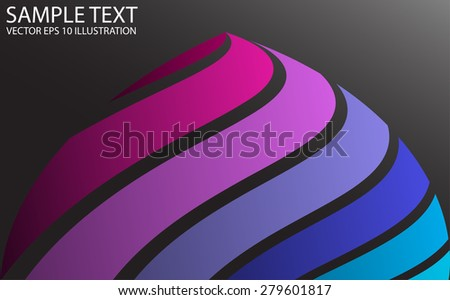 Spectrum rainbow swirled colorvector background illustration - Color vector abstract spike background striped illustration - stock vector