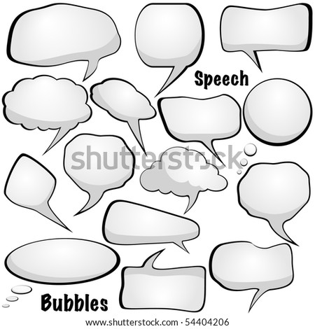 Speech and thought bubble vector - stock vector