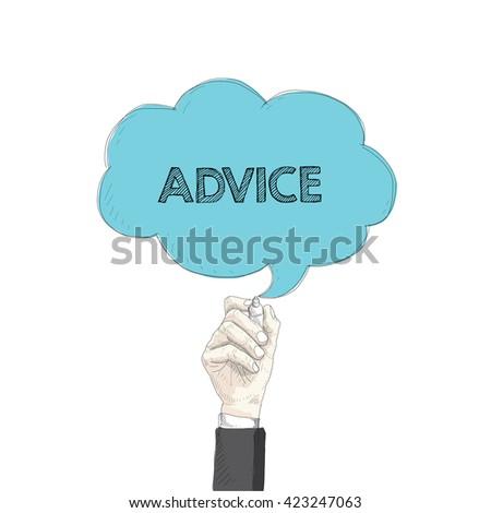 Speech Bubble ADVICE - stock vector