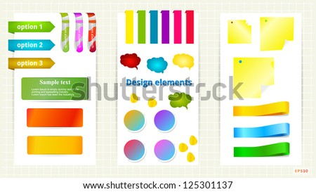 Speech bubble and banner collection. Vector bookmarks. Design symbols. - stock vector