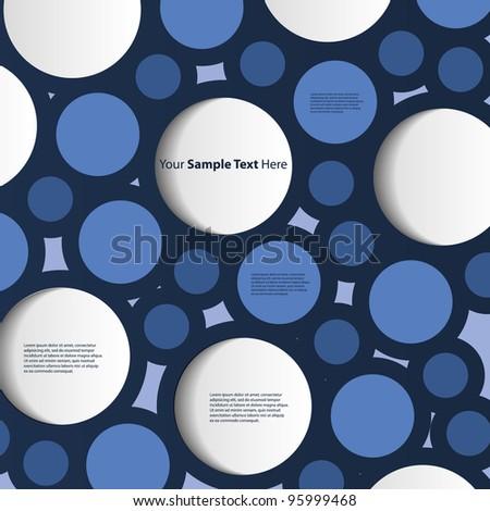 Speech Bubble Background - stock vector