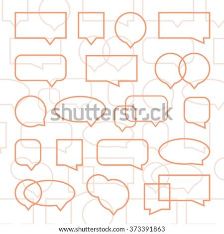 Speech Bubble Background Design - stock vector