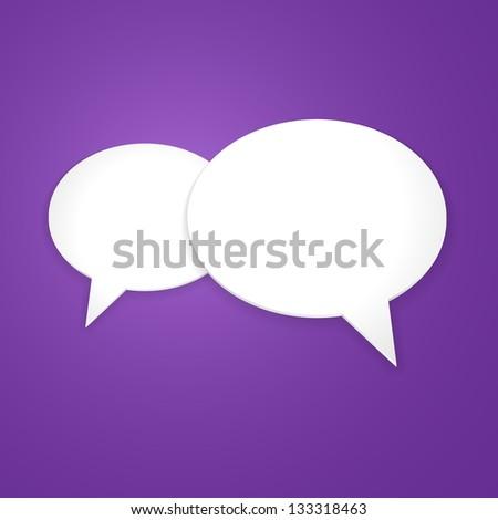 Speech Bubble Background, Icon. Vector Illustration - stock vector