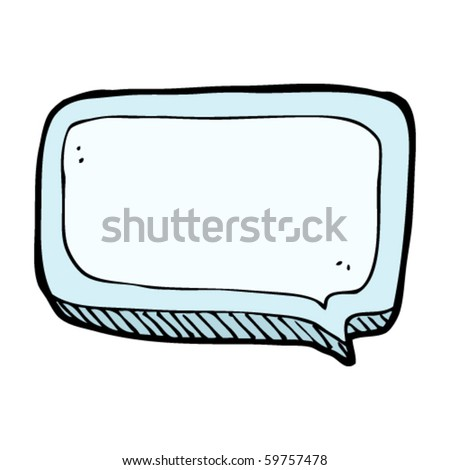 speech bubble cartoon - stock vector