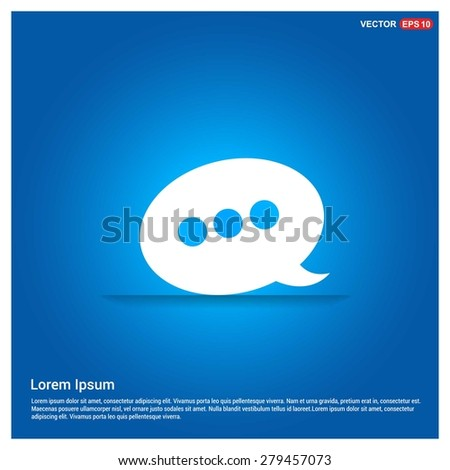 Speech Bubble Chat Icon - abstract logo type icon - abstract glowing blue background. Vector illustration - stock vector