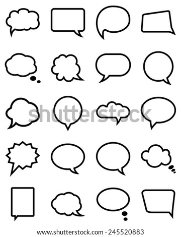 Speech bubble collection. Vector illustration - stock vector
