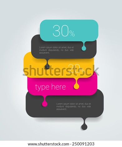 Speech bubble diagram, scheme. Infographic element. - stock vector