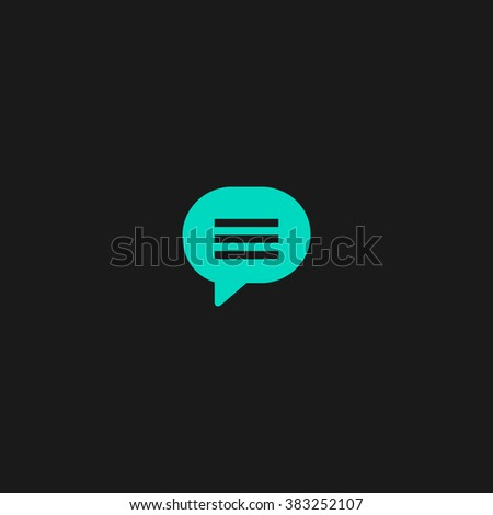 Speech bubble. Flat simple modern illustration pictogram. Collection concept symbol for infographic project and logo - stock vector
