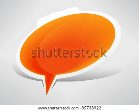 Speech bubble from the ground - stock vector