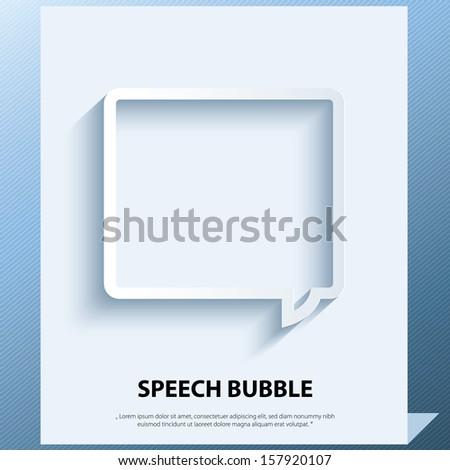 Speech bubble icon. - stock vector