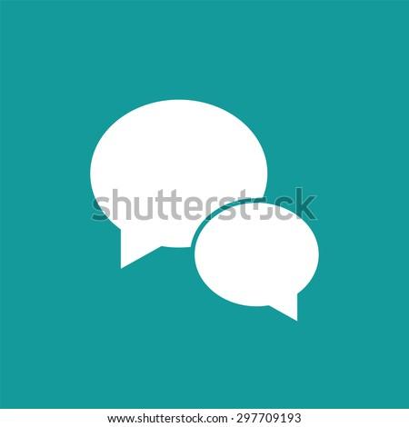 Speech bubble icon - stock vector