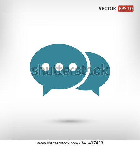 Speech bubble icon. One of set web icons - stock vector