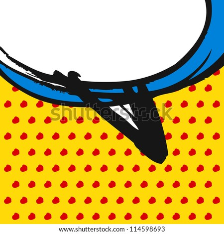 Speech bubble, pop art style, doodle, vector - stock vector