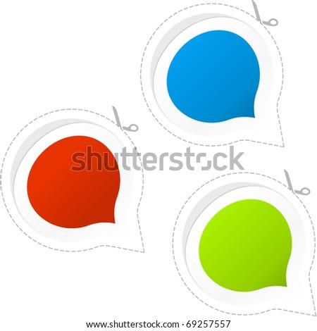 Speech bubble. Sticker set for sale. - stock vector